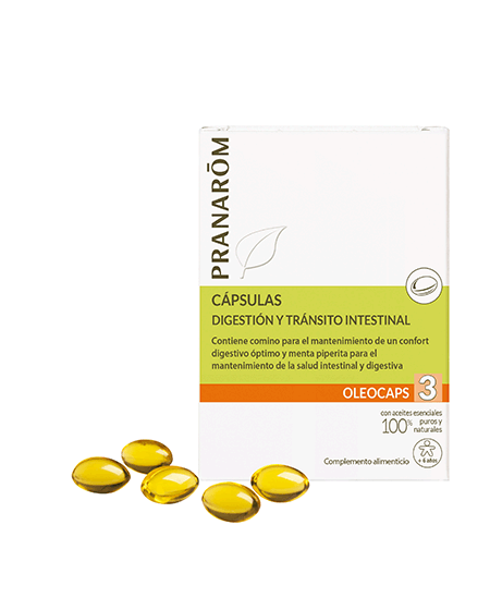PRANAROM OLEOCAPS 3 DIGESTION Y TRANSITO INTESTINAL 30 CAPS