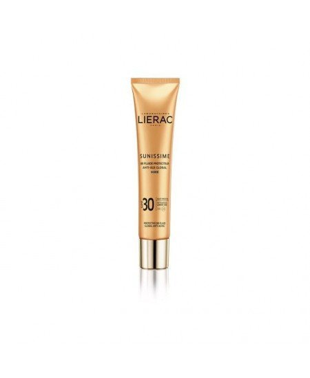 LIERAC SUNISSIME PROTECTIVE BB FLUID GLOBAL ANTI-AGING GOLDEN SPF 30, GOLDEN 40ML
