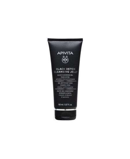 APIVITA BLACK DETOX CLEANSING GEL FACE AND EYES 150ML