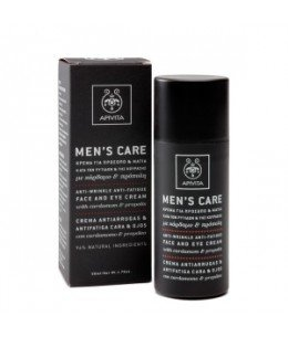 "APIVITA MEN""S CARE CREMA ANTIARRUGAS Y ANTIFATIGA CARA Y OJOS 50ML"